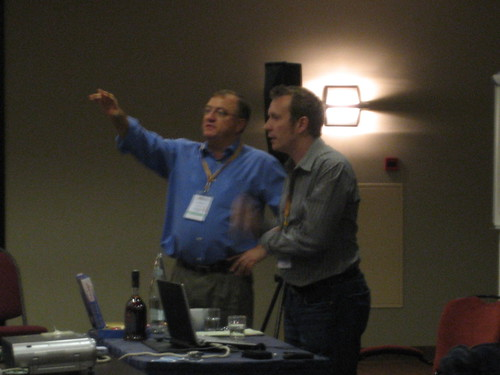 Daryl Upsall and Sean Triner at International Fundraising Congress 2008