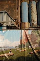 Future Domino (Gowanus) Tags: nyc newyorkcity ny newyork colors lines metal brooklyn rust rocks industrial sugar condo future williamsburg quadrants split past refinery sunbathers dominosugar diagonals horizontals dominosugarrefinery