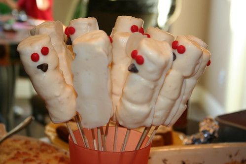 Ghosts on a stick by amycouch.