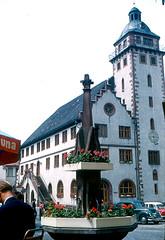 Mosbach - Rathaus and Fountain (roger4336) Tags: germany deutschland cityhall rathaus baden neckar 1960 elz badenwrttemberg nosbach