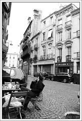 Life in the Street (Ursula in Aus - Away) Tags: urban france female bordeaux cobbles brickstreets