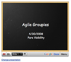 Agile Groupies Presentation