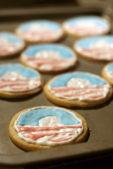 Go vote today! (qousqous) Tags: cookies logo election delicious icing campaign obama election2008 sugarcookies barackobama royalicing obamacookies campaignlogo