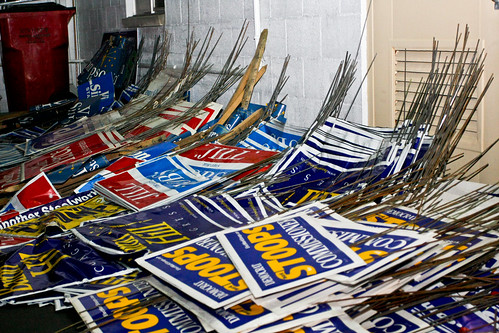 Election Sign Waste
