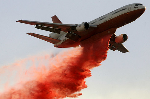 tanker drop in OC fire: Jonathan Alcorn