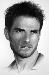 Tom Cruise (pbradyart) Tags: portrait bw art pencil movie star sketch artwork drawing tomcruise pencildrawing artcafe aworkofart artcafedomidoexhibitionscomein artcafemembersaresensualandthoughtful artcafeexhibitionscomein