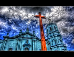 Malolos Cathedral (frborj) Tags: church nikon cross cathedral philippines bulacan simbahan hdr unpopular malolos d40 tonemapped flickrhdr pkchallenge frborj