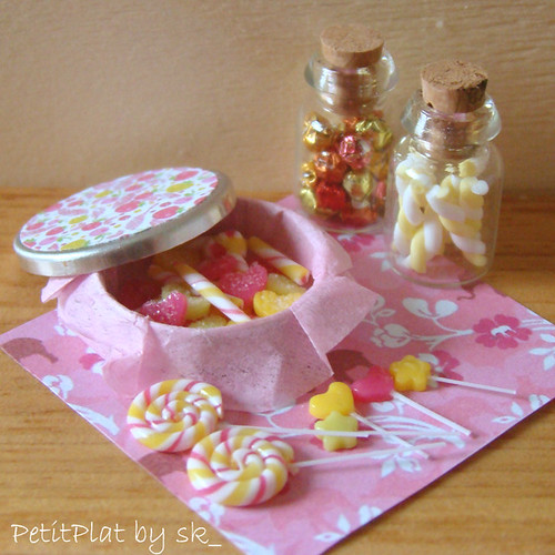 Dollhouse Miniature Food Pink Sweets 1:12