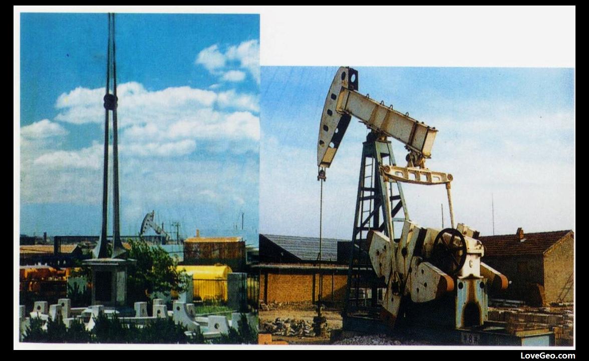 1961年4月16日,胜利油气区第一口工业油流井---华8井及纪念碑