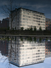 Ashton Canal Reflection 5 (Campbell Mitchell) Tags: reflection water reflections manchester canal still upsidedown mitchell ashton campbell
