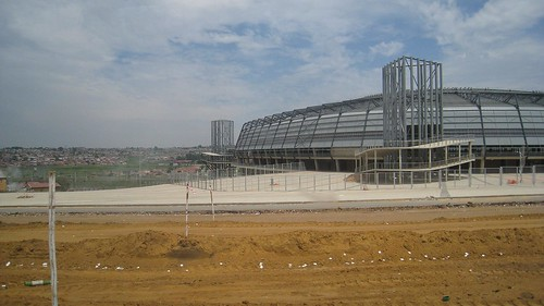One of Soweto's new soccer stadiums