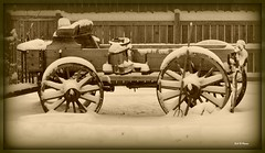 Sitting idle............ (rodandnancy80538) Tags: winter snow sepia wagon nikon picnik d90 70200vr abigfave aplusphoto