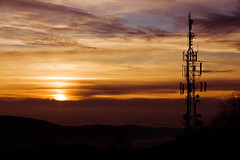 communication tower overlooking sunset (bricelj) Tags: sunset tower clouds evening bravo technology communication slovenia slovenija