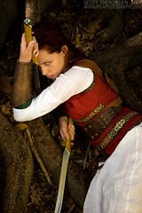 Jessica: Fantasy #4 (Scott G Trenorden Photography) Tags: elf fairy fantasy warrior hydepark 2008 westernaustralia middleearth pduv nikond700 nikon2470mmf28 passionduvoyagephotography passionduvoyage2008photographphotographywesternaustralia jessicatruscott