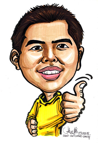 Caricature for Singapore Armed Forces 18