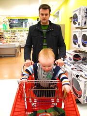 perusing the aisles at Target