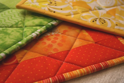 quilted potholders