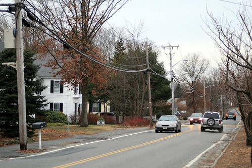Power lines along Main Street - Southborough, MA