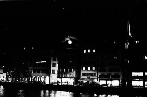 Moon over Zurich