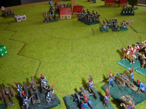 Even with the Grand Battery and cavalry in support, D'Erlon looks isolated