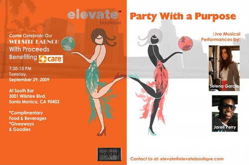 Elevate Boutique launch party invite