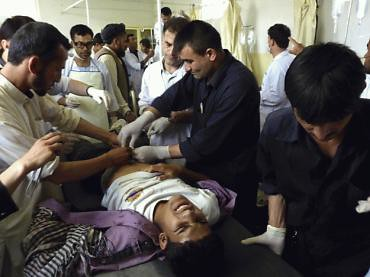 Afghanistan man wounded in violent flare-up in the aftermath of NATO attacks that resulted in the deaths of four civilians in the northern region of the country. US/NATO forces have sparked anger due to the deaths of thousands in bombing raids. by Pan-African News Wire File Photos