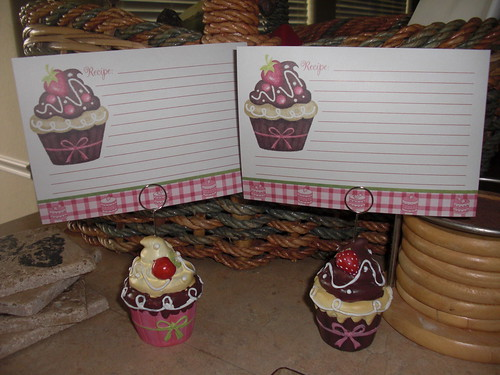 Cupcake Recipe Holder and Recipe Cards