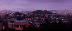 San Francisco Blue Hour...er... Purple hour (Surrealplaces) Tags: sanfrancisco california