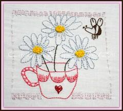 Aceita um chá perfumado? - 07/06/2011 (Cantinho da Aracy) Tags: bordado nófrancês pontocheio pontoatrás