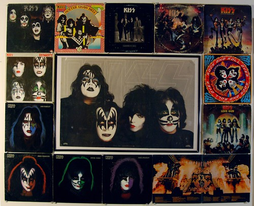 KISS record collage
