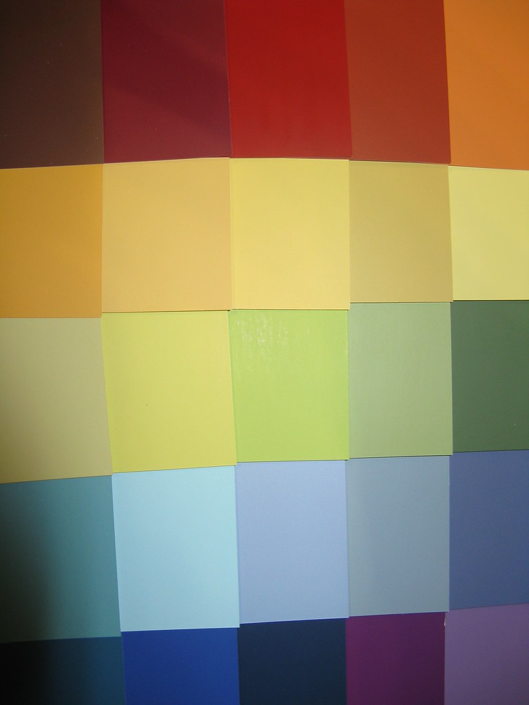 Colour samples by shade number