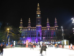 Ice skating at the Rathaus