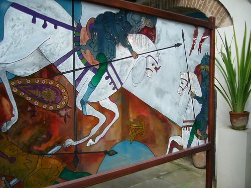 Casa de Lombillo內展示的圖畫作品