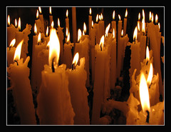 Votive Candles (Lawrence OP) Tags: france love hope shrine candles faith mary prayer votive lourdes ourlady