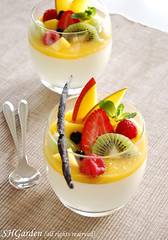 Fruity panna (*steveH) Tags: food dessert strawberry sweet blueberry mango raspberry vanilla kiwi grape pannacotta steveh verrine