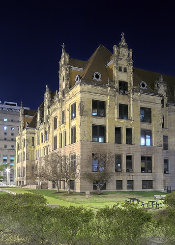 City Hall at night, in Saint Louis, Missouri, USA