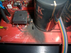 Capacitor blow out