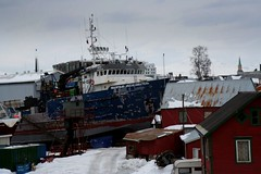 the dock (paprikaOptic) Tags: snow norway norge dock russian troms norvge cyrilic  wraf