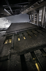 Alley (2create) Tags: london canon dark alley eerie ultrawide 1022mm tonemapped tonemapping 400d