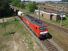 Railion 189-068-0 at Kijfhoek, May 10, 2008 (cklx) Tags: 189 railion containertrain kijfhoek containertrein