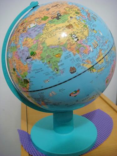 地球儀—【最新款圖示版】10吋無夜光型地球儀