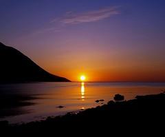 Slarupprs eftir sjmannadagsball (gudnyag) Tags: sea sun nature sunrise landscape iceland olafsfjordur superbmasterpiece