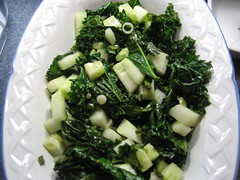 Warm Kale and Cucumber Salad