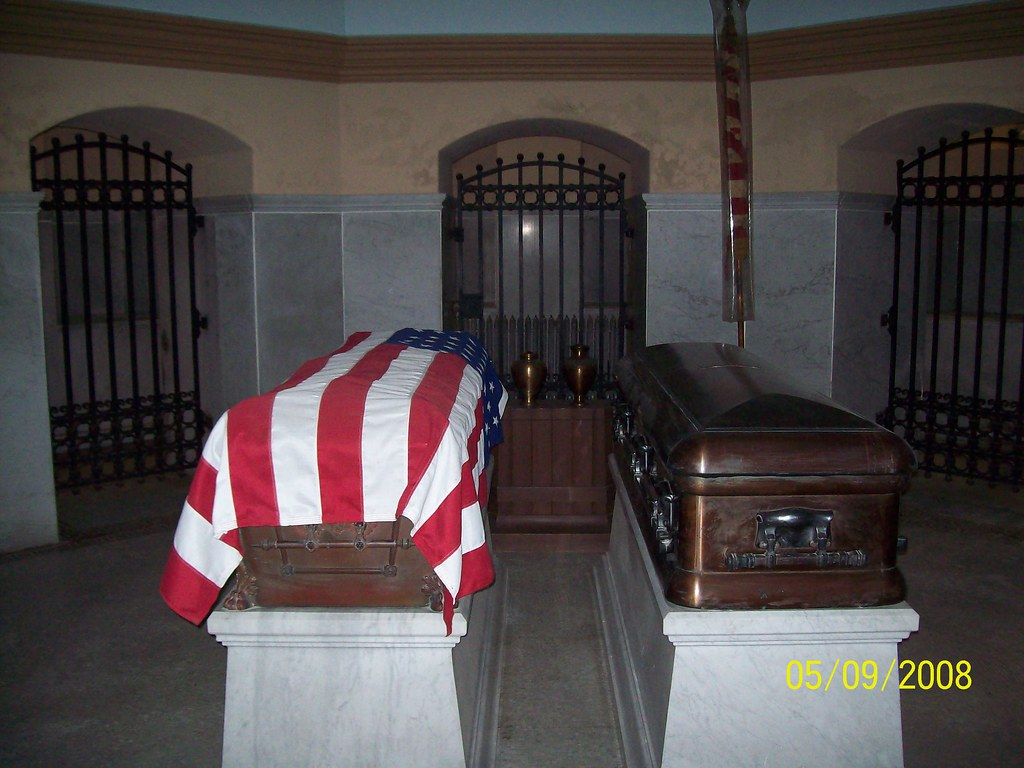 The crypt of President and Mrs.James A. Garfield
