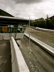 sliding track with control tower