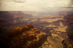 basking in forever (jasfitz) Tags: grandcanyon coloradoriver chasm fissure vast speckledcloudcoverage