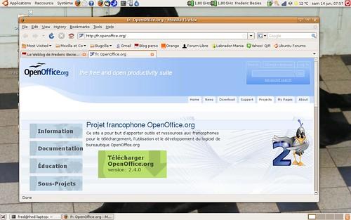 OpenOffice.org 2.4.0 disponible sur le site francophone.