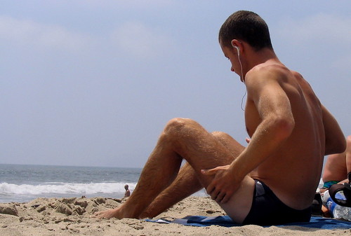 Jon S Hairy Legs On Beach