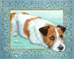 """""""Rainy Day"""" AER89 by A E Ruffing Jack Russell Terrier"""