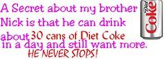 Diet Coke (VxHASxOJDx) Tags: adam 30 joseph paul kevin day brothers nick jerry joe frankie nicholas stop nathaniel jonas